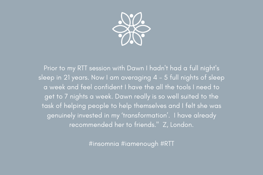 Ultimate You - Client Testimonial - Insomnia| www.dawnquest.co.uk/ultimate-you